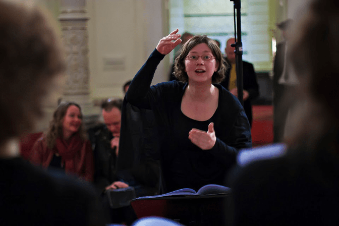 Maria in actie- foto Robert Westerman
