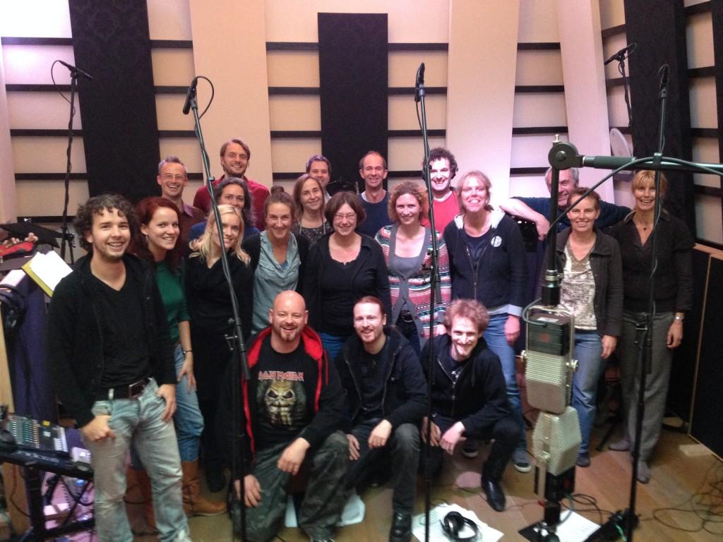PA'dam & Xandria, bij het opnemen van de vocals voor nieuwste CD Xandria